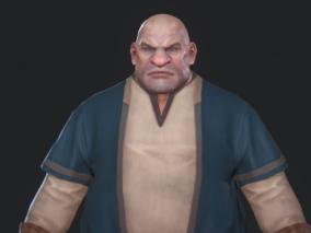 男 壮汉 铁匠 屠夫 3d模型