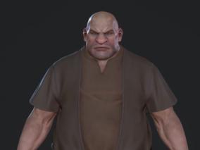 男 壮汉 光头 屠夫 3d模型