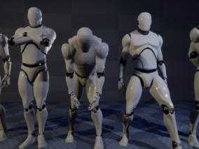 姿势大全 角色绑定pose 动作大全 动画过渡 姿势参考 小白人 UE4 虚幻四 虚幻五 UE5