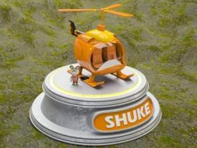 舒克贝塔直升机 角色卡通3D模型 3d模型