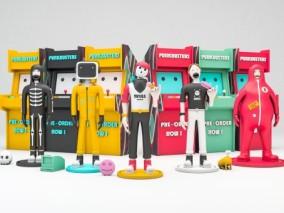潮流人物摆件卡通3D模型