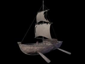游戏场景 漫画场景 卡通场景 交通工具 船舶 船 小木船 小帆船 小舟 小飞船 飞船 科幻船 玄幻船