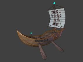 漫画场景 卡通场景 船 小飞船 玄幻船 科幻船 中式船 古代战船 战船 商船 渔船 帆船
