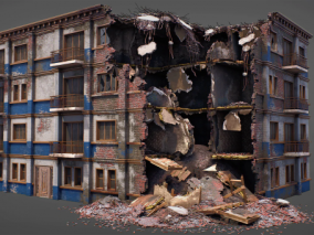 毁坏的建筑套件   毁坏建筑   建筑废墟