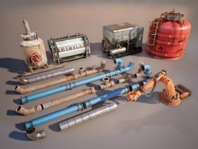 ue4 超高质量管道 工业设备 油田设备 罐子 发电机 机器臂 管道组件 五金 虚幻4