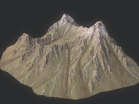 斜体山体 岩石 山峰 峡谷 Mounta 展示图为Marmoset  3d模型