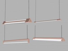 灯管吊灯 3d模型