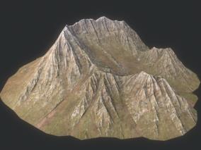 山体 岩石 山峰 沟壑 高山 丘陵 高原 平原 山地 峡谷 Mounta  3d模型