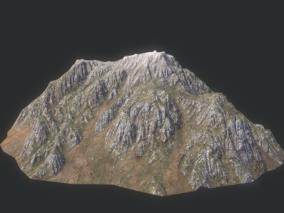 山体 岩石 山峰 沟壑 高山 丘陵 高原  3d模型