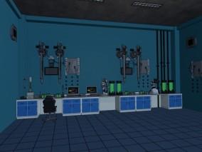 游戏场景 漫画场景 实验室 生化武器 未来实验室 科学仪器  3d模型