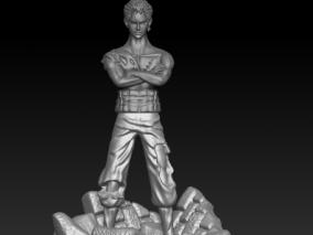 海贼王索隆 3d模型