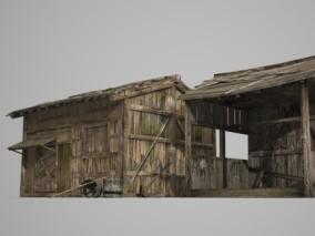 亚洲古建筑 木屋民房 3d模型