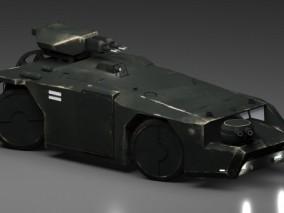 科幻战车 越野车 未来吉普 带武器激光炮 机关炮 科幻战车 3d模型