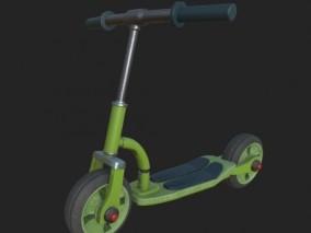 滑板车 玩具自行车 儿童平衡车 卡通脚踏车 代步车 小型电动车 3d模型