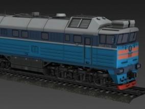 老式蒸汽机车 复古运输货运火车 列车头 铁轨车 铁轨车 轨道车  3d模型