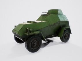 二战装甲车 苏联侦察车 警车 输送车 指挥车 通信车 步兵战车 军用车辆 3d模型