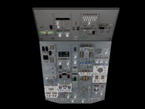 波音737驾驶舱面板 驾驶舱 机舱 飞机 驾驶 仪表盘 3d模型