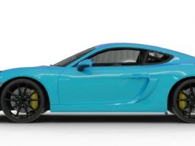 保时捷718 GT4跑车 轿车 豪车 车辆 带内部模型 3d模型