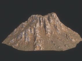山体 岩石 山峰 沟壑 高山 丘陵 高原 山坡  3d模型