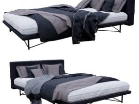 现代 家具 床 卧室 3d模型