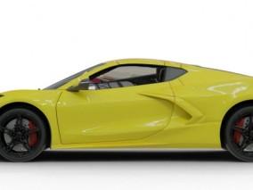 雪佛兰克尔维特 跑车 轿车 豪车 车辆 带内部模型 3d模型