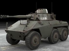 二战主战步兵坦克 装甲野战击破车 陆战武器 轻型自行反坦克炮 3d模型