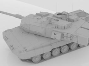 战车 装甲车 军用车 德军 履带式步兵 德系艾布拉姆斯主战坦克  3d模型