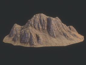 山体 岩石 山峰 山坡 高山 丘陵 高原  沟壑  低矮山石 3d模型