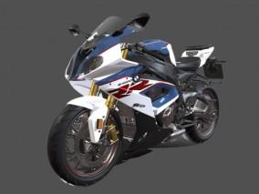 宝马摩托车3D模型