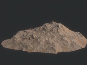 山体 岩石 山峰 沟壑 高山 丘陵 高原 平原 平原山地 3d模型