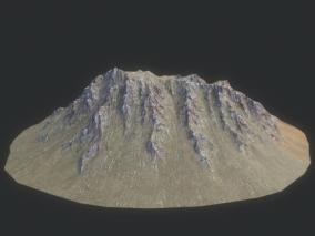 山体 岩石 山峰 山坡 高山 丘陵 高原  沟壑  3d模型