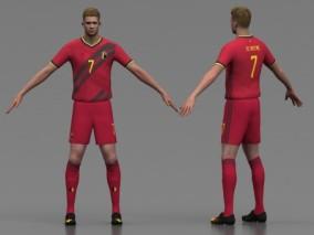 足球运动员 凯文·德·布勒伊纳 外国人 职业球员 写实男人 足球人物 比利时足球运动员