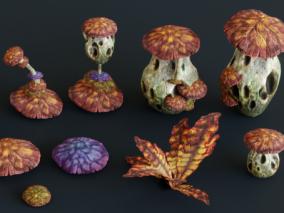 奇幻植物 蘑菇 菌类植物 3d模型