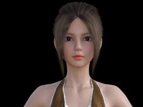 【赠送控制器】刘海女孩 蓬蓬裙 写实人物 女性 美女 现代舞女生