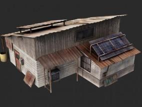 PBR- 老旧 后世界 末日 房子 铁皮房  脏乱 平民窟