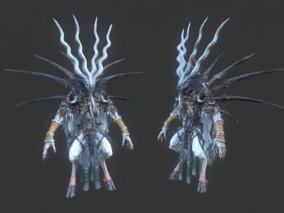 山羊怪 术士 魔法师 白魔法师 魔导师 白魔导师 巫师 怪物 boss 3D模型