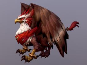 次世代 卡通 可爱 Q版 狮鹫 鹰头 狮身 四足鹰 神兽 3D模型
