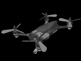 四轴飞行器 四轴无人机 探测器 3D模型