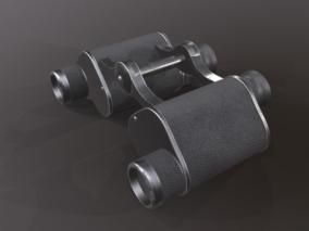 军用望远镜 双筒望远镜 望远镜 光学仪器 复古望远镜 老式望远镜 军工品 3D模型