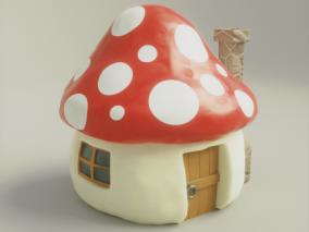 蘑菇小屋 小房子 森林小屋 3D模型