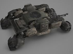 未来科幻风格全地形坦克