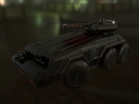 科幻战车 机械战车 星球巡逻探测车 装甲车 未来战车 防暴车 高科技装甲车 3D模型