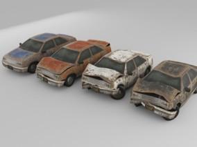 废旧汽车3D模型
