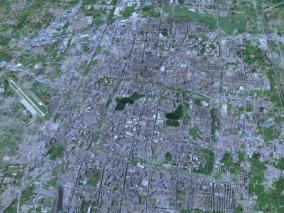 开封市模型 开封市智慧城市模型 开封市数字城市模型 开封市城市规划模型 3D模型简模 效果图