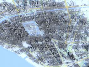 南通市城市3d模型 南通数字城市模型 南通建筑规划 效果图鸟瞰 南通城市3d白模简模 南通全景鸟瞰