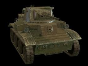 轻型坦克 坦克 履带坦克 步兵坦克 装甲车 坦克车 二战坦克 陆战武器 日本坦克 3D模型