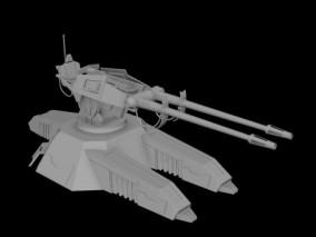 炮塔 防御炮塔 炮台 武器系统 科幻炮塔 火炮 激光炮 未来机关枪 镭射枪 科幻重炮  3D模型