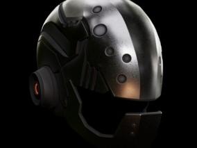 科幻头盔 炫酷头盔 战术头盔 头部防护 特种装备 作战头盔 装备 军事头盔 3D模型
