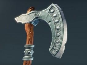 斧头武器 野蛮斧头 魔法斧头 铁斧子 维京斧头 战斧 冷兵器 斧头 3D模型
