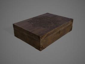 木盒 木质 箱子 储存 古董 3D模型